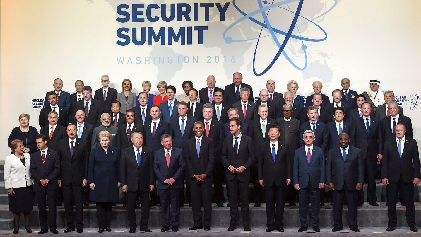 Verdensledere samlet under Nuclear Security Summit i Washington, 1.april 2016.