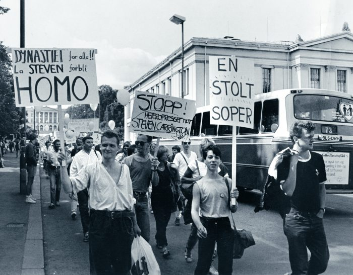 Oslo Pride 1983_foto Arne Walderhaug-Fritt Fram_Universitetsforlaget